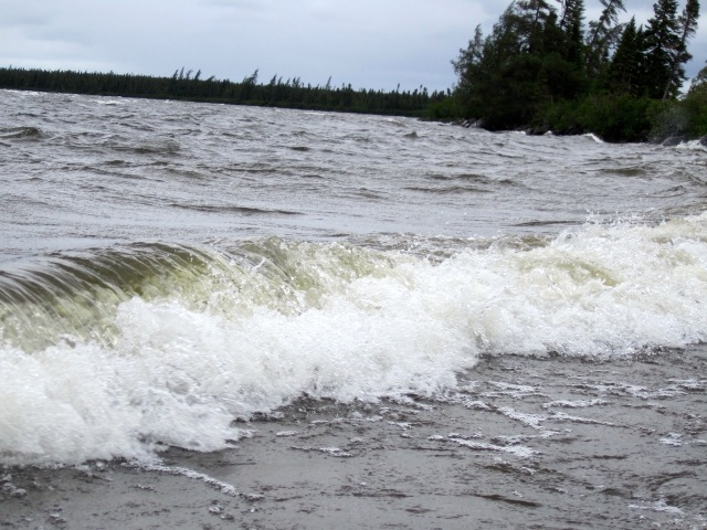 High Seas on Crossroads Lake