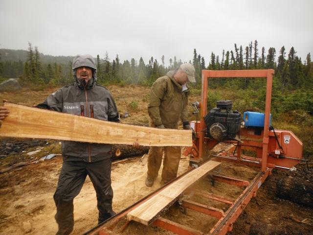 Simon and John - Three Days in the Rain, Sawing Logs